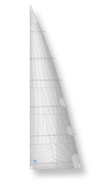 mainsail boom furling laminate