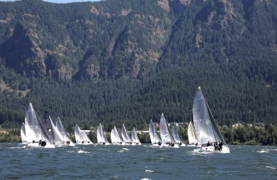 Melges 24 sailors reap the wind at the Columbia River Gorge thumbnail