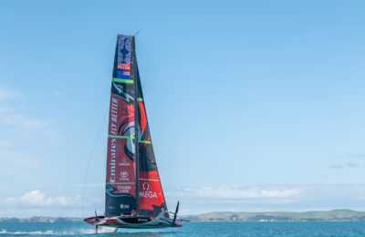Team New Zealand's first in the water for 2021 America's Cup thumbnail