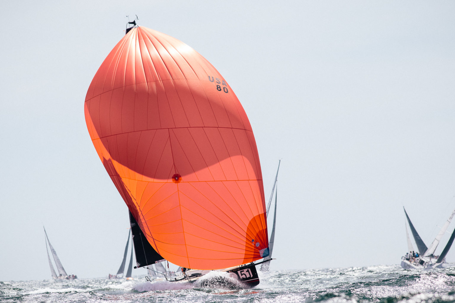 club racing spinnaker