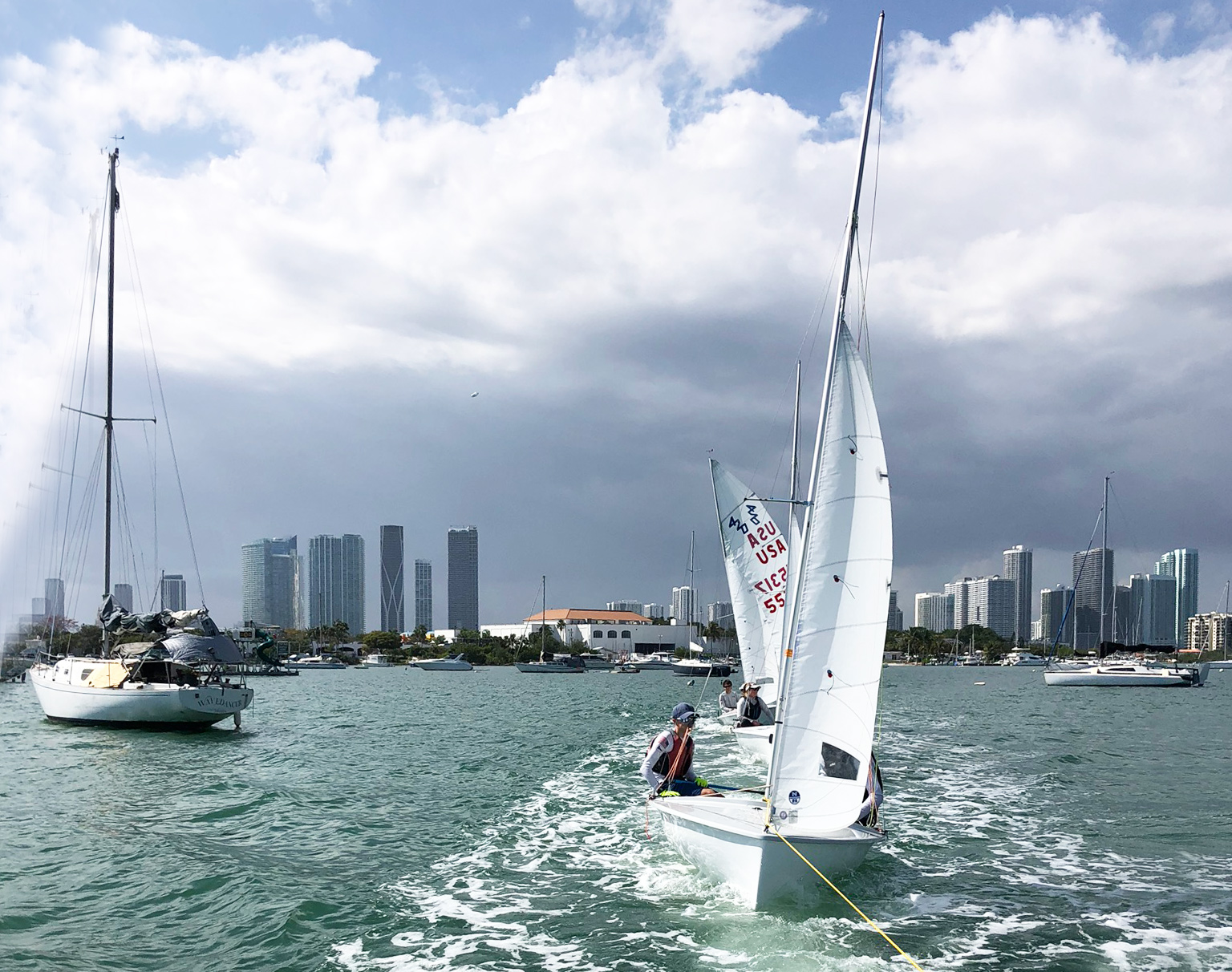 Haul to the open-water sailing east of Key Biscayne
