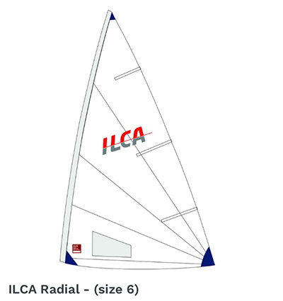 new ilca laser radial sail