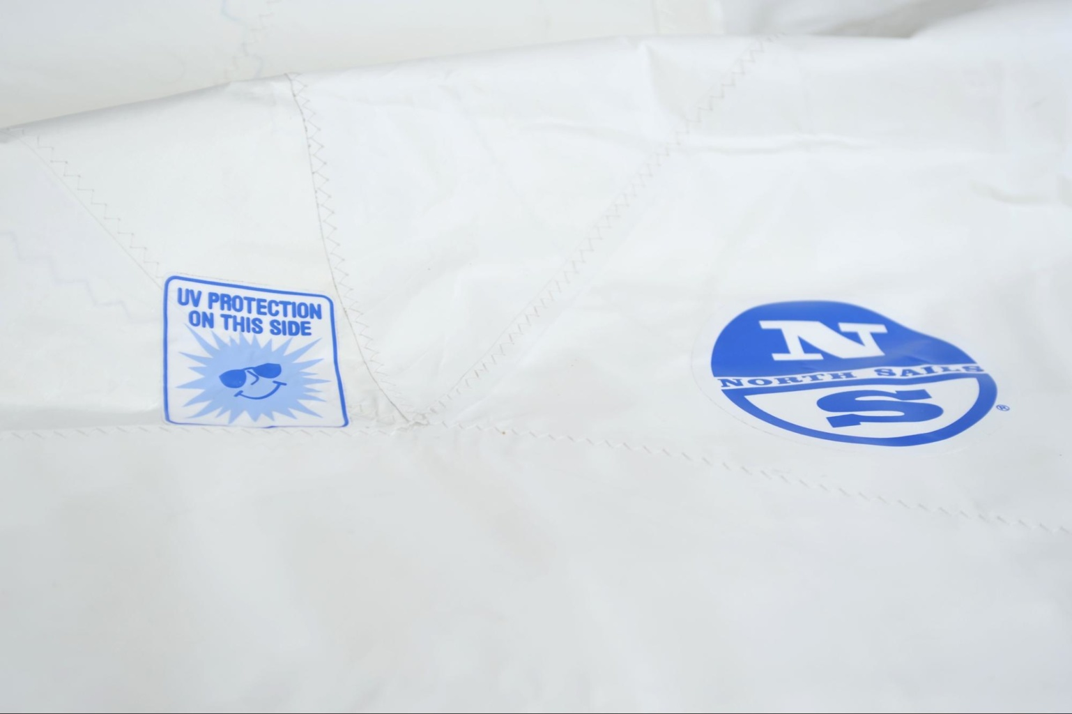 roller furling headsail with UV suncover sticker north sails
