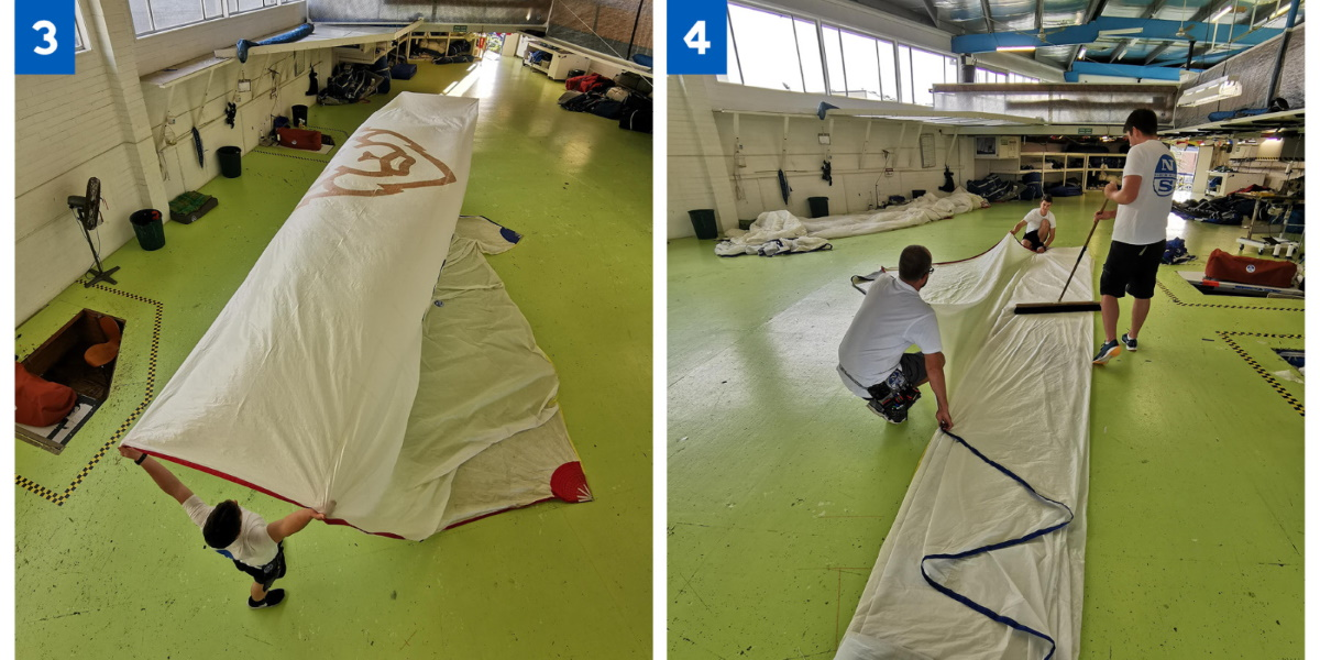 spinnaker sail maintenance example