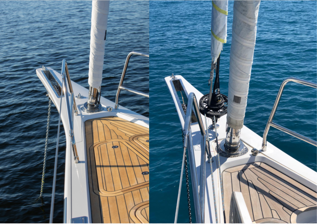 ubi meior jiber system, anti torsion cable code sail top down furling, North Sails , Matteo Reboli