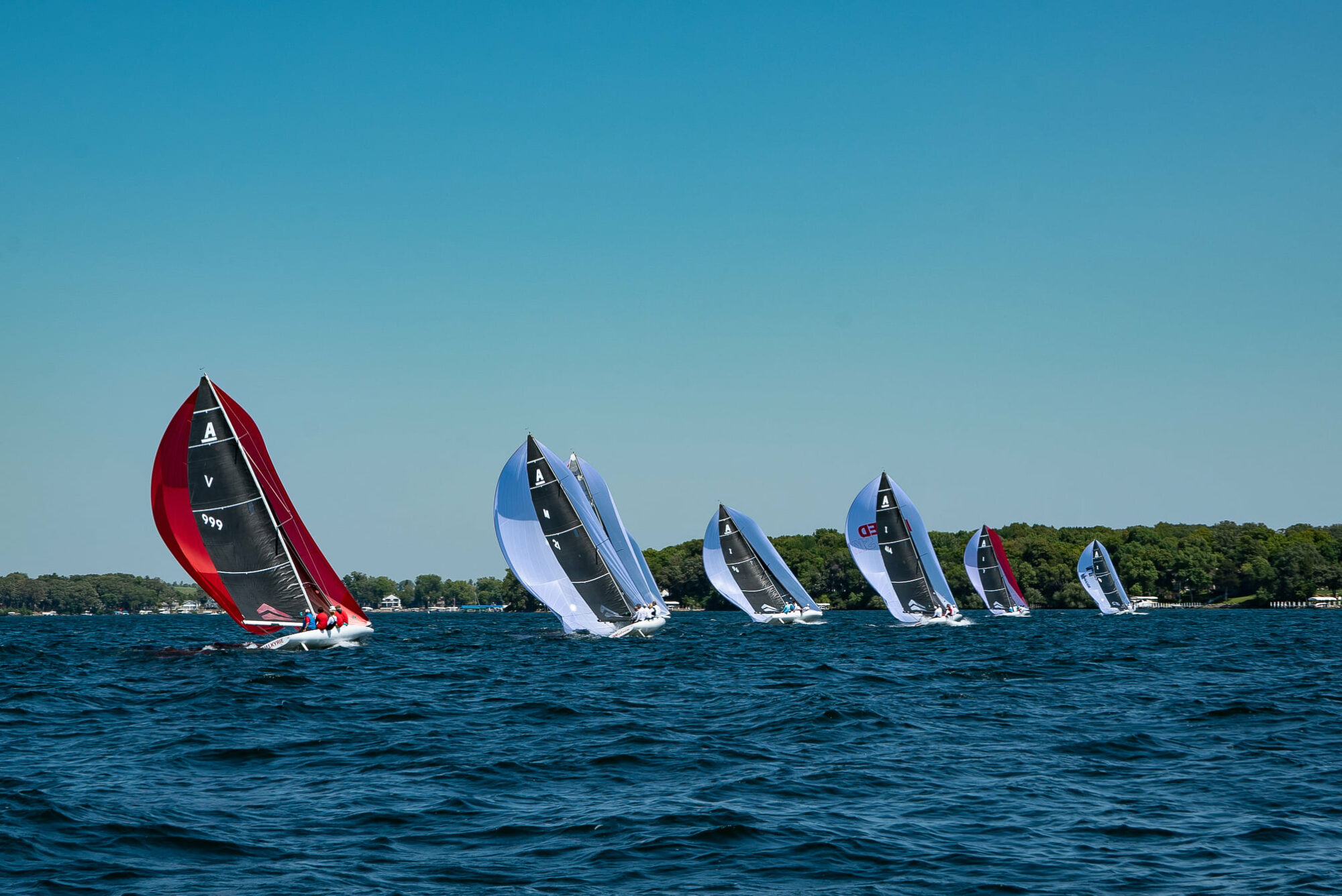 A Scow 3Di Mainsails Dominate the Inlands