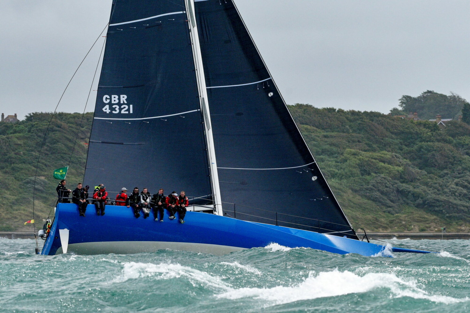 Ben Saxton on 52-foot Oystercatcher at the start of the Rolex Fastnet Race 2021